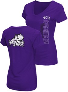 Ladies TCU Horned Frogs 2 Sided Compulsory Short Sleeve Tee Shirt