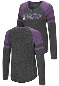 Ladies TCU Horned Frogs Heather Black Bubbilicious Long Sleeve T Shirt