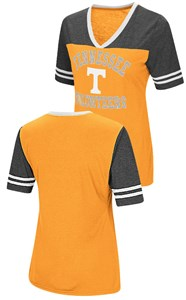 Ladies Tennessee Volunteers Smaller Fit Whole Package Synthetic V Neck  T Shirt