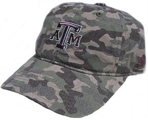 Ladies Texas A&M Aggies Camo Print Adjustable Slouch Cap by Adidas