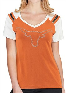 Ladies Texas Longhorns Courtney Short Sleeve T Shirt by 289c on Sale