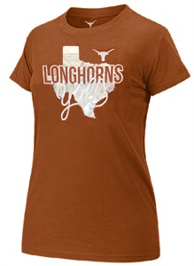 Ladies Texas Longhorns Orange UT Kit Short Sleeve T Shirt by 289c on Sale