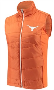 Ladies Texas Longhorns Synthetic Wing Back Vest