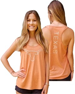 Ladies Texas Longhorns Tx. Orange Saphira Tank Top Shirt on Sale