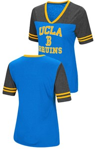 Ladies UCLA Bruins Smaller Fit Whole Package Synthetic V Neck T Shirt