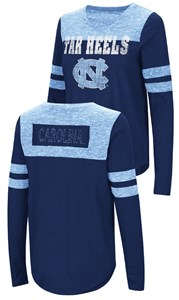 Ladies UNC Tarheels Junior Sized Long Sleeve My Way 2 Sided T Shirt