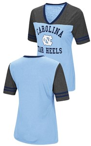 Ladies UNC Tarheels Smaller Fit Whole Package Synthetic V Neck T Shirt