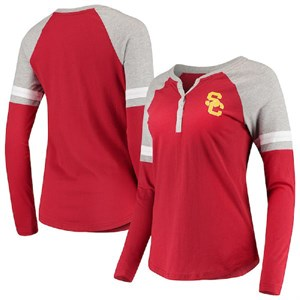 Ladies USC Trojans Crimson Nilly Raglan  Long Sleeve T Shirt on Sale