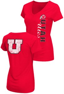 Ladies Utah Utes 2 Sided Compulsory Short Sleeve Tee Shirt