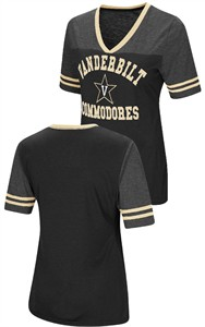 Ladies Vanderbilt Commodores Smaller Fit Whole Package Synthetic V Neck T Shirt