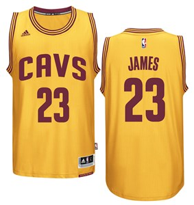 best website 3d859 a1104 LeBron James Cleveland Cavaliers Gold Swingman Basketball ...