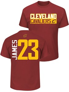 b0ae3e0d281 Lebron James Cleveland Cavaliers Mens Garnet Vertical Short Sleeve T Shirt