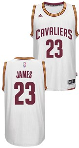 dacd075e3 NBA   Cleveland Cavaliers   LeBron James Youth Cleveland Cavaliers White Replica  Basketball Jersey by Adidas