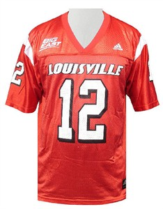 Louisville Cardinals Men's Home College Replica Football Jersey By Adidas