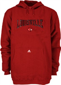 Louisville Cardinals NCAA Embroidered Hooded Sweatshirt By Adidas