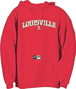 Louisville Cardinals Youth College Screen Printed Hooded Sweatshirt By Adidas