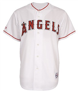 Los Angeles Angels Embroidered Home Replica Baseball Jersey by Majestic