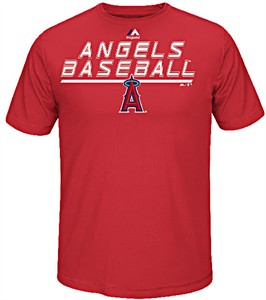 Los Angeles Angels Synthetic Aggressive Performance Short Sleeve Shirt by Majestic