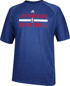 Los Angeles Clippers Heather Royal Climalite Practice Short Sleeve Shirt by Adidas