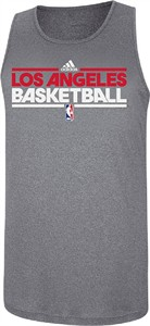 Los Angeles Clippers Slim Fit Pre-Game Clima Fabric Tank by Adidas