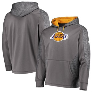 Los Angeles Lakers Grey Armor 5 Majestic Polyester Hoodie Sweatshirt on Closeout on Sale