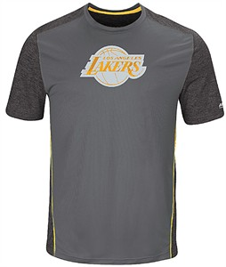 Los Angeles Lakers Mens Storm Grey Respect The Play Synthetic T Shirt on Sale