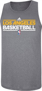 Los Angeles Lakers Slim Fit Pre-Game Clima Fabric Tank by Adidas