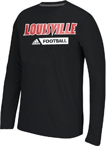 Louisville Cardinals Adidas Ultimate Sideline Gridiron Performance Long Sleeve T Shirt