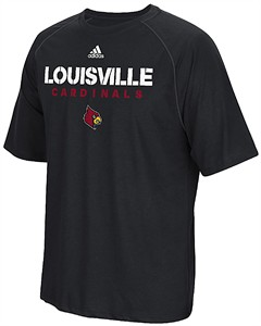 Louisville Cardinals Black Sideline Fall 2017 Adidas Climalite Polyester Synthetic T Shirt