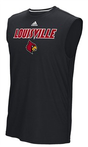 Louisville Cardinals Black Sideline 2018 Adidas Climalite Synthetic Sleeveless Shirt