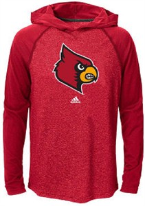 Louisville Cardinals Extra Point Adidas Ultimate Climalite Hooded Long Sleeve T Shirt