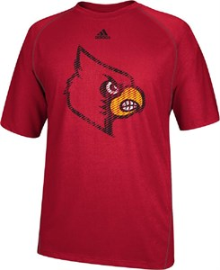 Louisville Cardinals Red Razor Logo Performance T Shirt by Adidas
