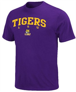 LSU Tigers Built Legacy Short Sleeve T Shirt by Majestic