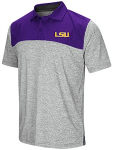 LSU Tigers Mens Alaska Woven Synthetic Polo Shirt
