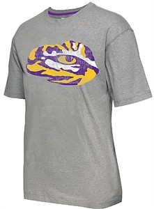 LSU Tigers Mens Grey Colossal Short Sleeve T Shirt by Colosseum