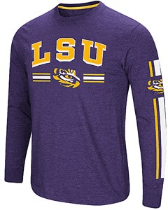 LSU Tigers Purple Colosseum Touchdown Pass Long Sleeve T Shirt