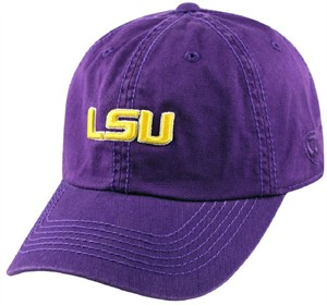 LSU Tigers Purple Crew Relaxed Crown Crew Adjustable Hat