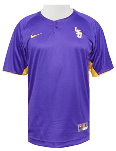 quality design 6d5e5 161dd LSU Two Button Henley Baseball Top by Nike | LSU Tigers ...