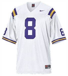 info for b16cf 47d8d LSU Tigers Youth Road #8 College Replica Football Jersey By ...