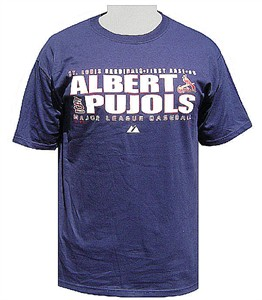 Majestic Albert Pujols St. Louis Cardinals Short Sleeve T Shirt-Player Team Pride