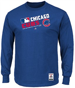 Majestic Chicago Cubs AC Royal Team Choice Long Sleeve T Shirt