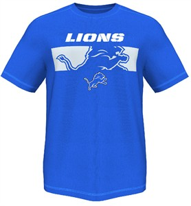 Majestic Detroit Lions Mens Short Yardage 14 Synthetic Shirt