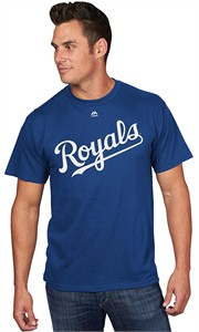 majestic Kansas City Royals Official Wordmark Cool Base Synthetic Shirt