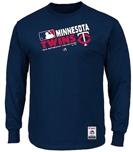 Majestic Minnesota Twins AC Navy Team Choice Long Sleeve T Shirt