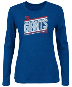 09953a7ce majestic New York Giants Womens Jazzed UP V Long Sleeve T Shirt ...