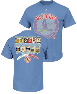 Majestic St. Louis Cardinals Lt. Blue Cooperstown League Domination T Shirt