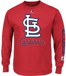 majestic St. Louis Cardinals Red Bend Don't Break Long Sleeve T Shirt