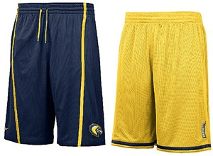 "Marquette Golden Eagles NikeFIT Dry 12"" Inseam College Reversible Mesh Force Shorts By Nike"