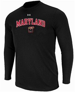 Maryland Terrapins Black Under Armour Nu Tech Long Sleeve T Shirt