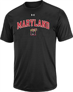 Maryland Terrapins Under Armour Catalyst Short Sleeve T Shirt